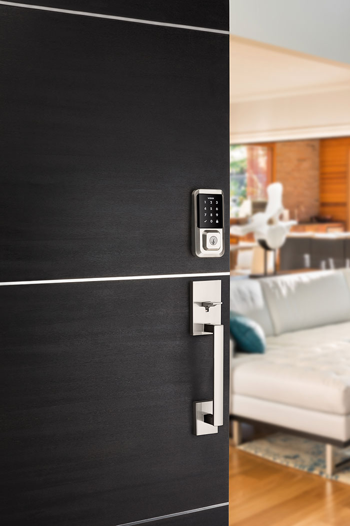 Halo-wifi-deadbolt-in-satin-nickel-lifetstyle