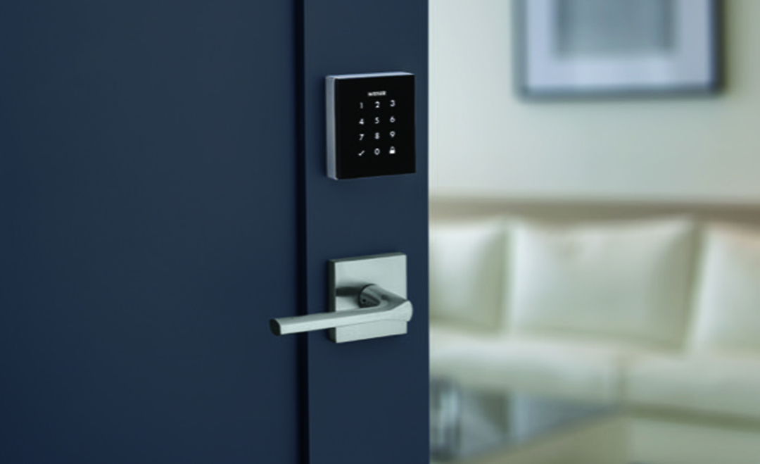 Obsidian-touchscreen-electronic-lock-in-satin-nickel-lifestyle web